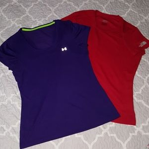 North Face & Under Armour dri-fit shirts